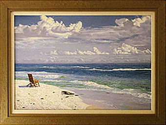 Framing - Framed Painting of Beach