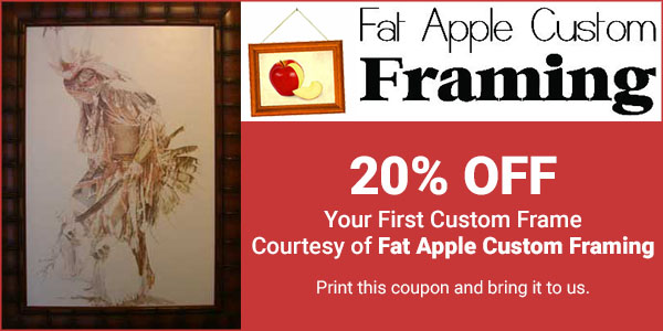 20% OFF Your First Custom Frame Courtesy of Fat Apple